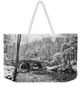 Snow Along The Wissahickon Creek Weekender Tote Bag by Bill Cannon