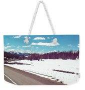 Snow And The Open Road Weekender Tote Bag