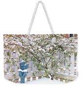Snow Angel Weekender Tote Bag