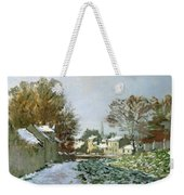 Snow At Argenteuil Weekender Tote Bag by Claude Monet