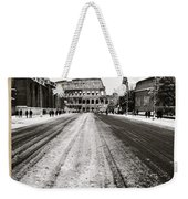 Snow At The Colosseum - Rome Weekender Tote Bag