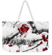 Snow Berry Weekender Tote Bag