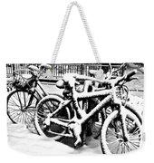 Snow Bicycles Weekender Tote Bag