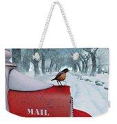 Snow Bird Weekender Tote Bag