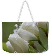 Snow Blossoms Weekender Tote Bag