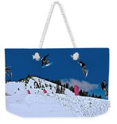 Snow Boarder Weekender Tote Bag