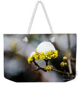 Snow Capped Flower Weekender Tote Bag