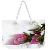 Snow Capped Magnolia Blossoms Weekender Tote Bag