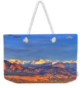 Snow-capped Panorama Of The Rockies Weekender Tote Bag by Scott Mahon