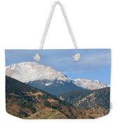Snow Capped Pikes Peak Colorado Weekender Tote Bag