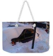 Snow Car Weekender Tote Bag