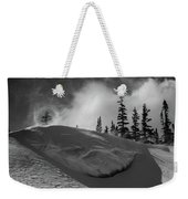 Snow Circle In The Mountains Weekender Tote Bag