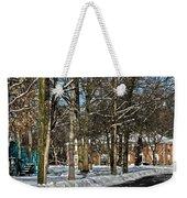 Snow Cleared Road Weekender Tote Bag
