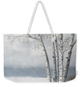 Snow Coming Into The South Shore  Weekender Tote Bag