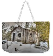 Snow Covered Abandon Cabin Weekender Tote Bag