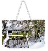 Snow Covered Barn Weekender Tote Bag