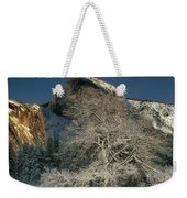 Snow-covered Black Oak Half Dome Yosemite National Park California Weekender Tote Bag