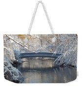 Snow Covered Bridge Weekender Tote Bag