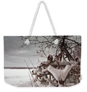 Snow Covered Farming Equipment Weekender Tote Bag