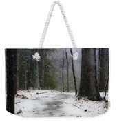 Snow Covered Path Quantico National Cemetery Weekender Tote Bag
