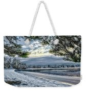 Snow Covered Pines Weekender Tote Bag