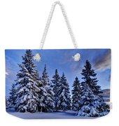 Snow Covered Trees Weekender Tote Bag