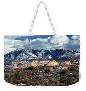 Snow Covered Utah Mountain Range Weekender Tote Bag