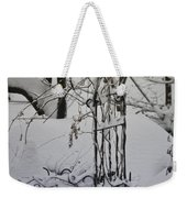 Snow Covered Wisteria Arch Weekender Tote Bag