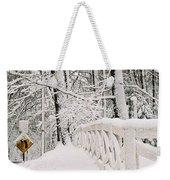 Snow Curve Weekender Tote Bag