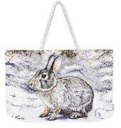 Snow Day Bunny Weekender Tote Bag