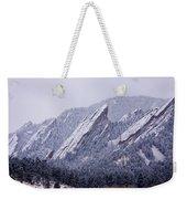 Snow Dusted Flatirons Boulder Colorado Weekender Tote Bag