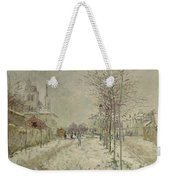 Snow Effect Weekender Tote Bag by Claude Monet