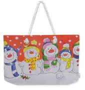 Snow Family Weekender Tote Bag by Diane Matthes