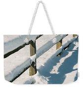 Snow Fence Weekender Tote Bag