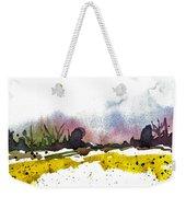 Snow Field Weekender Tote Bag