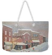 Snow For The Holidays Painting Weekender Tote Bag