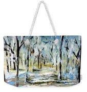 Snow Forest Weekender Tote Bag