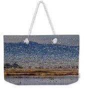 Snow Geese Landing Weekender Tote Bag