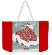 Snow Girl Weekender Tote Bag