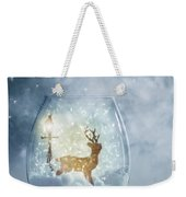 Snow Globe For Christmas With Reindeer Weekender Tote Bag