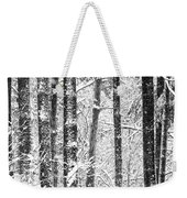 Snow In A Forest Weekender Tote Bag
