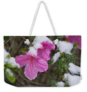 Snow In Houston Weekender Tote Bag