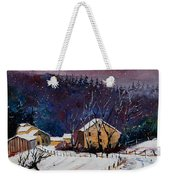 Snow In Sechery Weekender Tote Bag