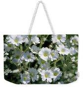 Snow In Summer Flowers Weekender Tote Bag