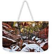 Snow In The Canyons Weekender Tote Bag