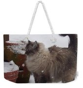 Snow Kitty Weekender Tote Bag