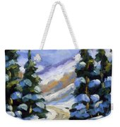 Snow Laden Pines Weekender Tote Bag