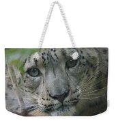 Snow Leopard 10 Weekender Tote Bag