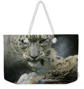 Snow Leopard 11 Weekender Tote Bag