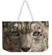 Snow Leopard 13 Weekender Tote Bag
